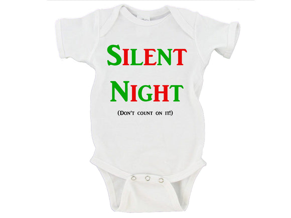 Silent Night Don't Count On It! Merry Christmas Gerber Onesie ®