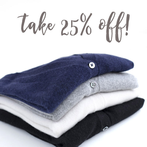 25% Off on December 15th! Your Choice Sale!