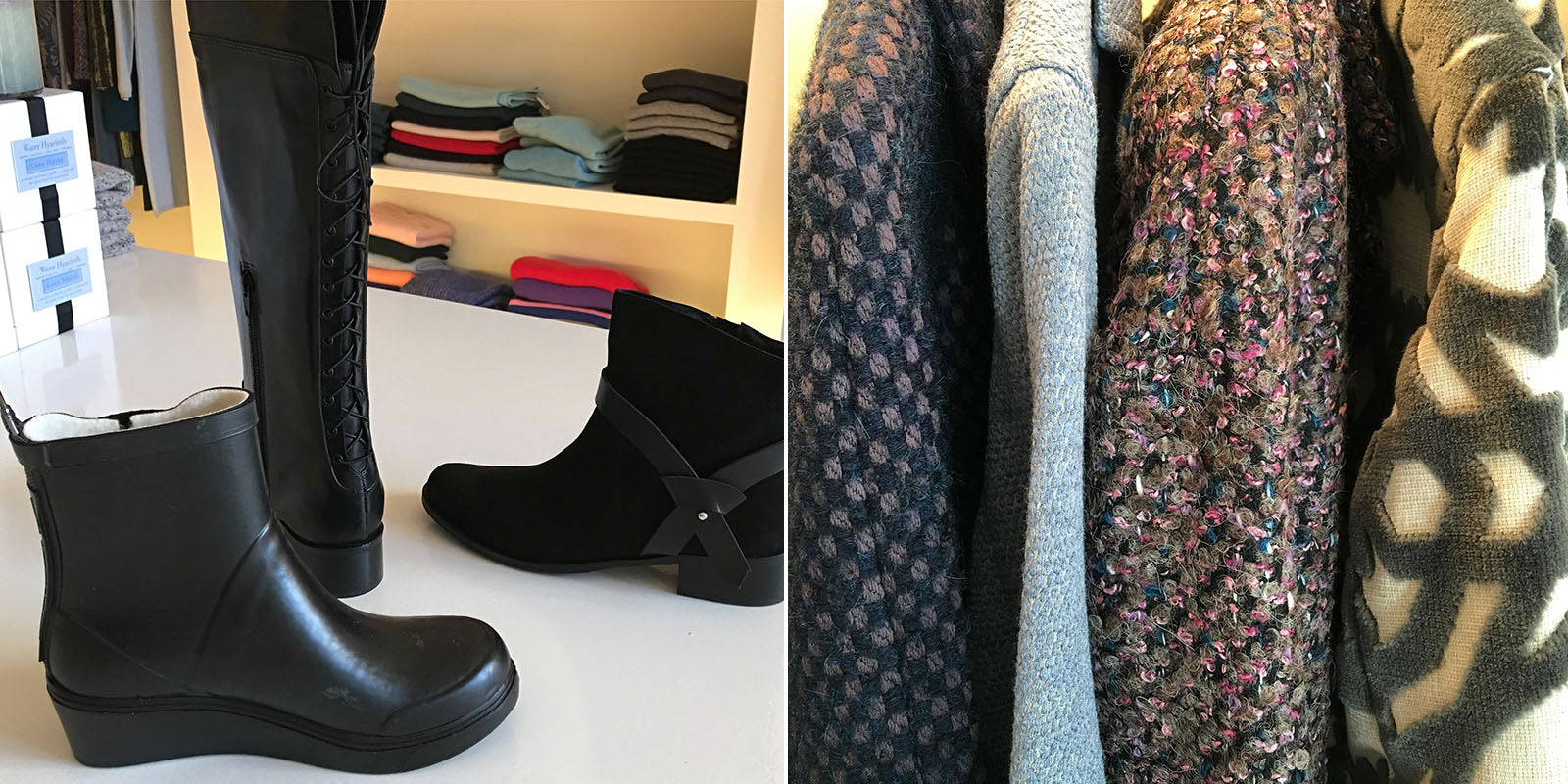 Fall boots and coats at ALICE Seattle