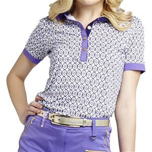 GG Blue Women's Short Sleeve Polo Isabel