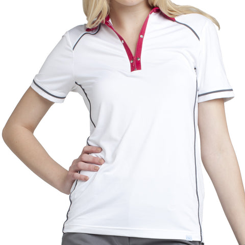 GG Blue Women's Short Sleeve Polo Taylor