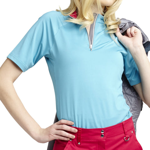 GG Blue Women's Short Sleeve Polo Miriam