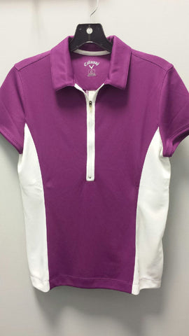 Callaway Women's 1/2 Zip Short Sleeve Polo BFSK0097