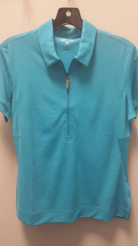 Callaway Women's 1/2 Zip Short Sleeve Polo BFSK0070