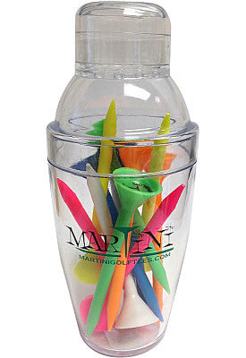 Martini Golf Tees Mini Shaker