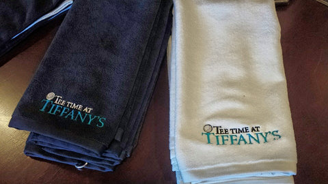 Tee Time at Tiffany's Golf Towel