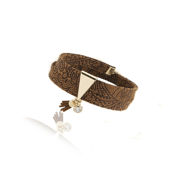 Gabbie- Tassel Bracelet (Dark Brown)