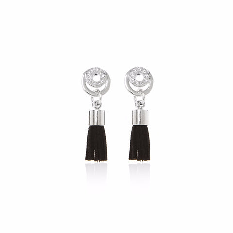 Katie (Silver)- Tassel Earrings