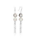 Luxury Pearl Earrings with Swarovski Crystal