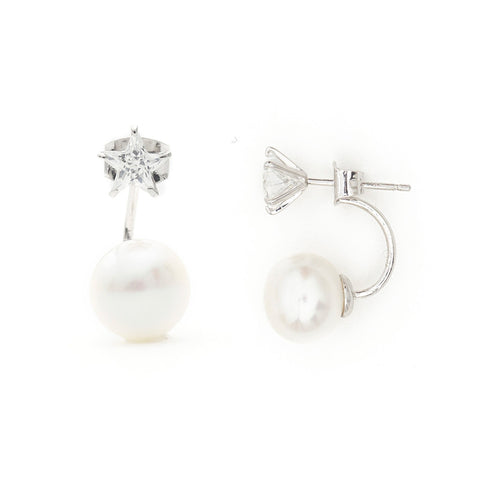 Freshwater Pearls, Silver Earrings