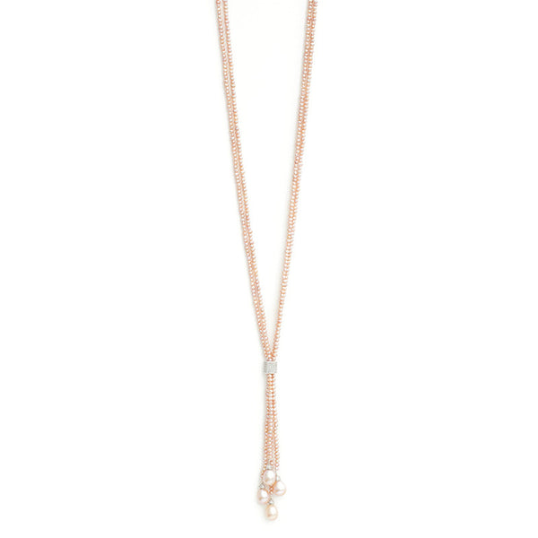 Lauren- Pearl Tassel Necklace