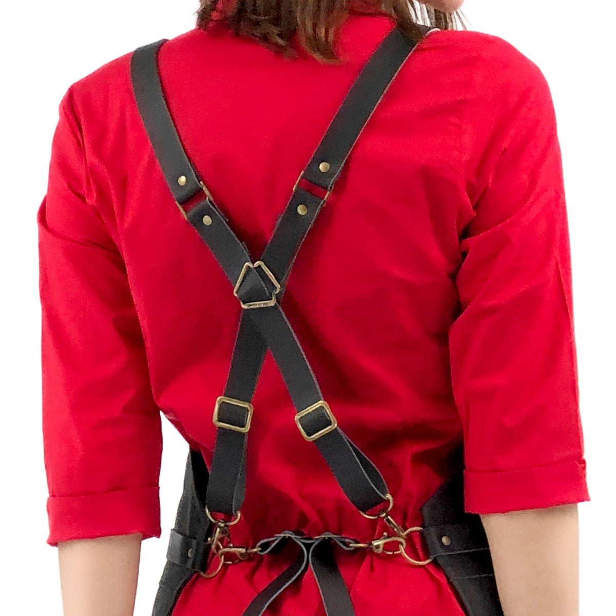 Under Ny Sky Full Leather Apron: Quick Release Cross-back Straps
