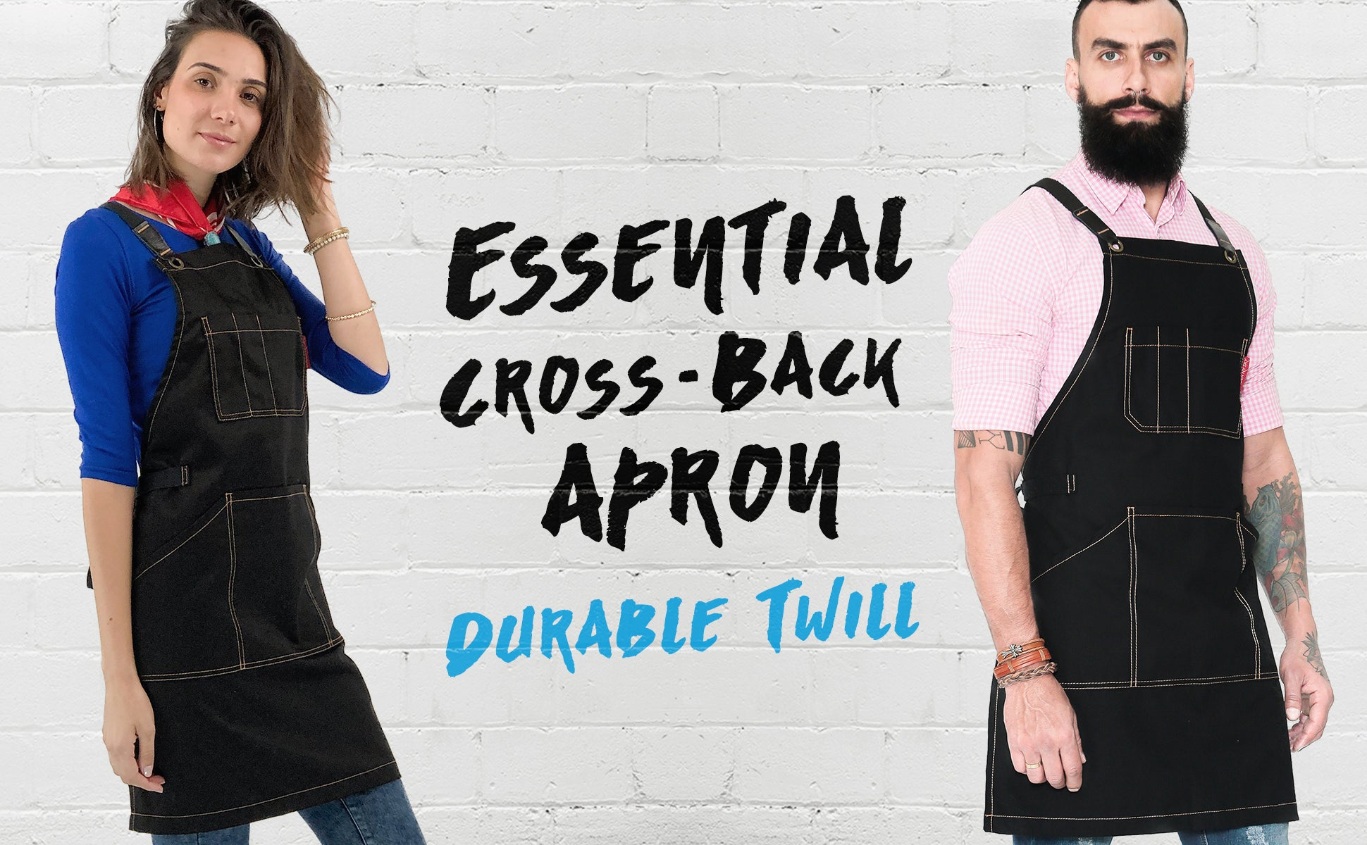 Under Ny Sky Aprons Essential Cross-back Twill Apron