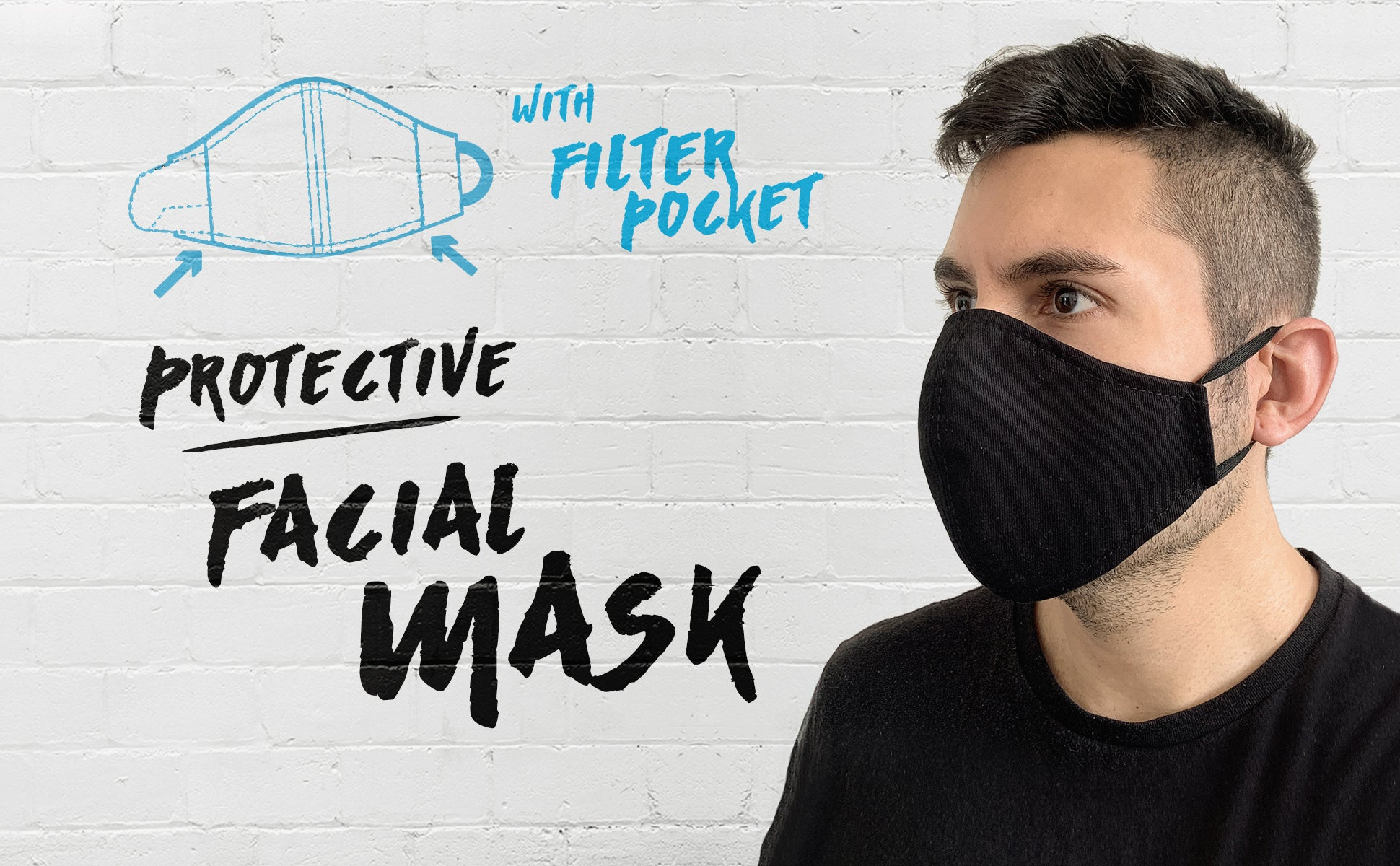 Under NY Sky Protective Facial Masks - with Pocket For Filter