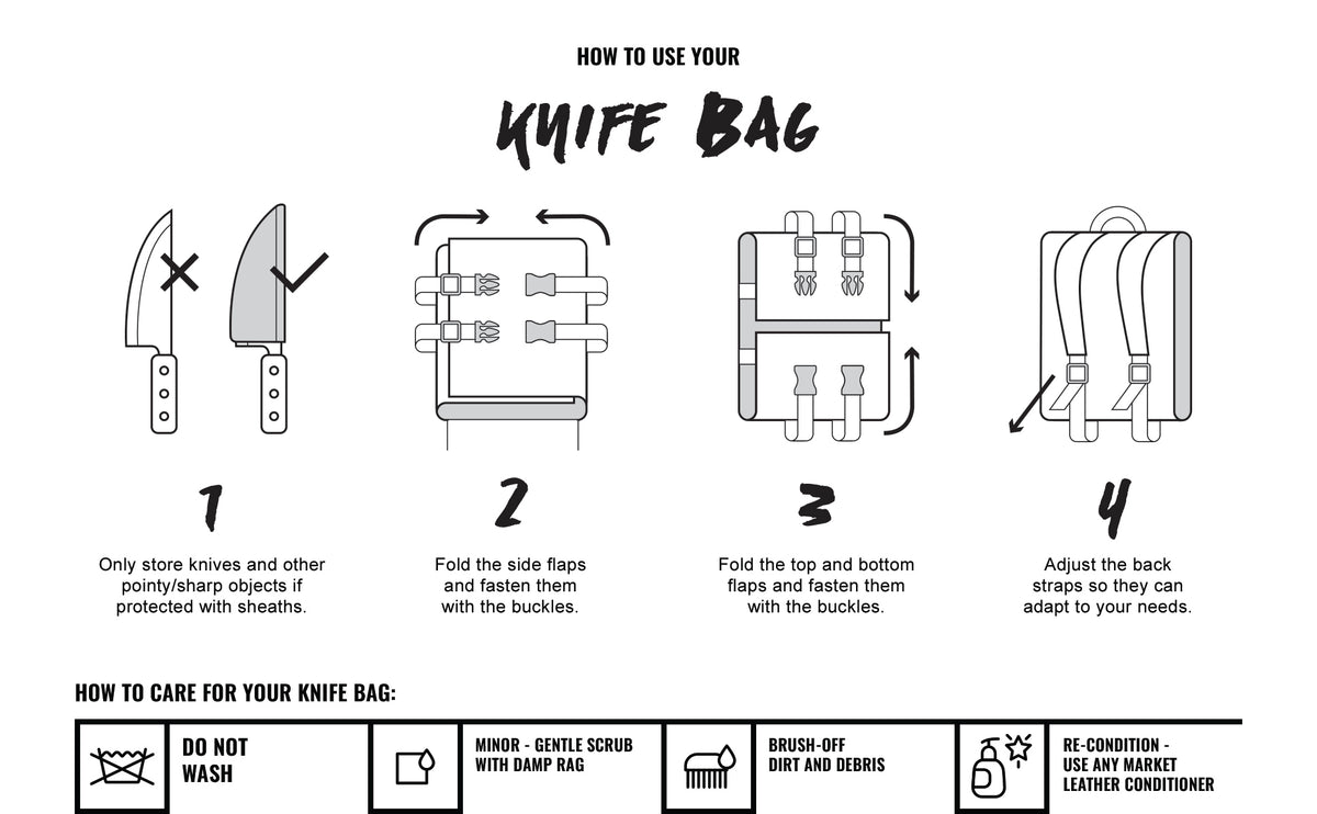 How to use our Under NY Sky Knife Bag