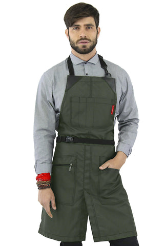 Barber Apron - Water & Chemical Proof, Zip Pocket, Buckle Closure - Hairstylist, Colorist, Salon