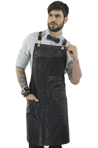 Salon Apron - CrossBack, Water Resistant, Adustable, SplitLeg - Hairstylist, Barber, Shop