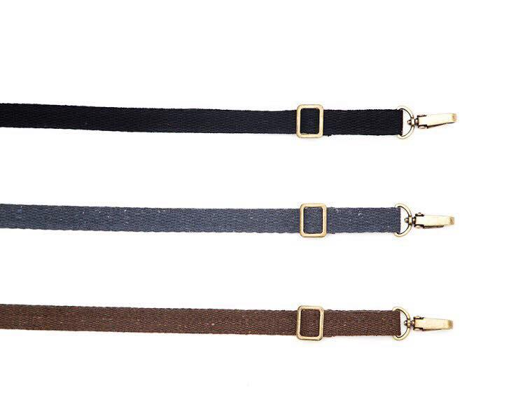Pair of Straps with Clasps and Regulation hardware - Brown, Gray or Black.