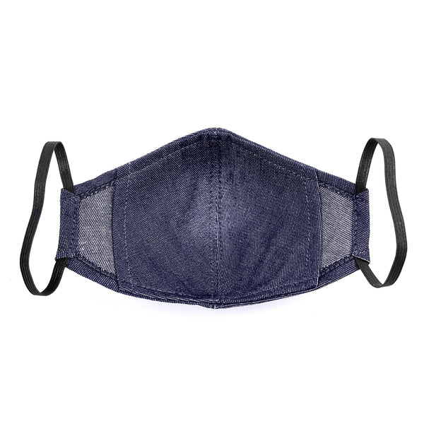 Under NY Sky Safety Mask, Blue Denim: back view.