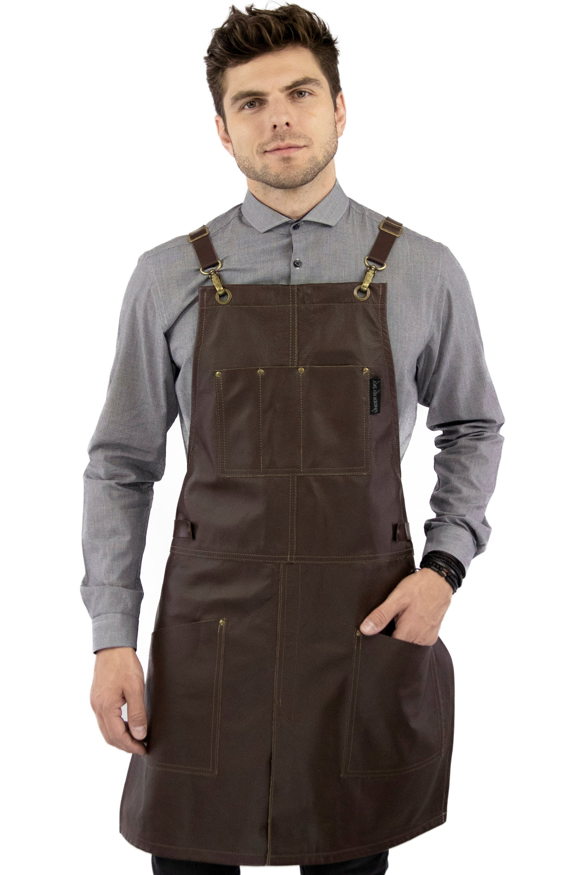 Leather Apron - Real Brown Leather