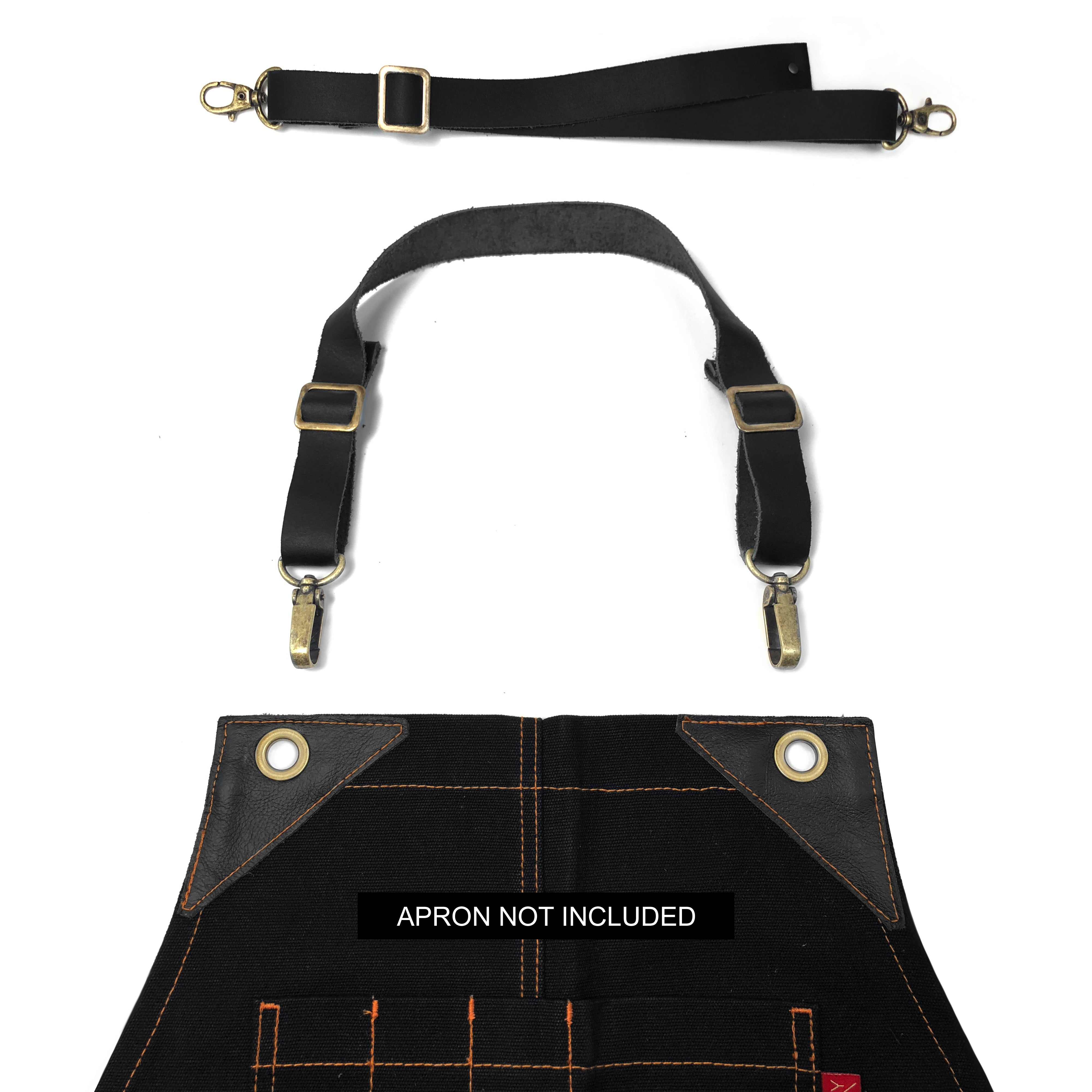Leather Straps - Over-the-neck - Black Leather