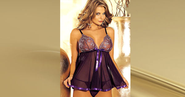 purple plum nightie