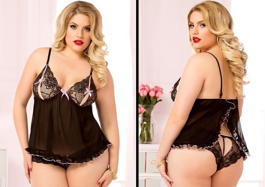 Ruffled Love Babydoll Plus Size