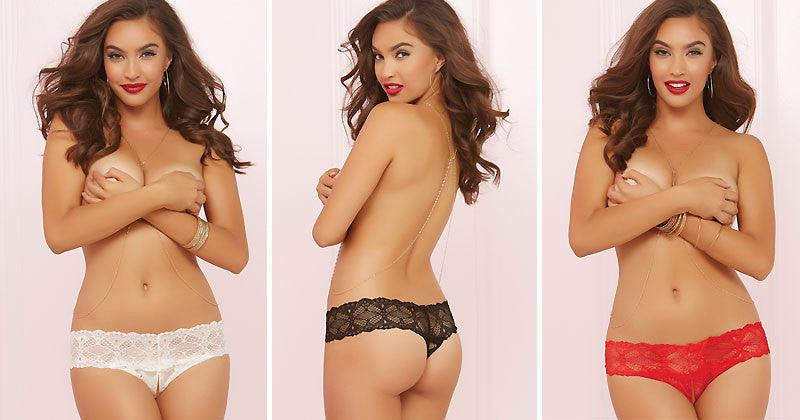 Naughty By Nature Lace Panties 3 Pack