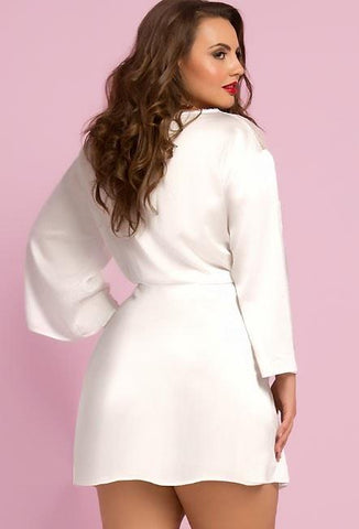 Dreaming Of You Lace & Satin Robe Plus Size