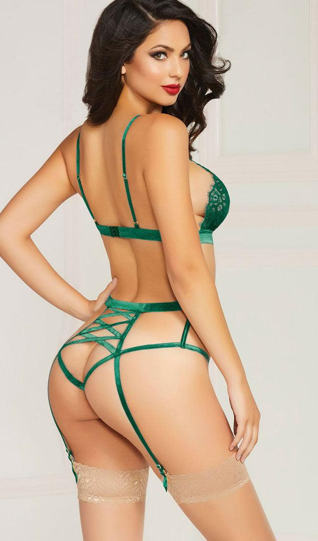 Green with Envy 2pc Teddy