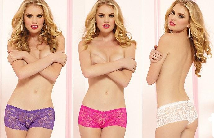 All Lace Boyshort 3 pack