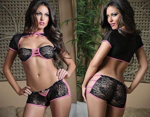 Foxxy 2 pc Boyshort Set