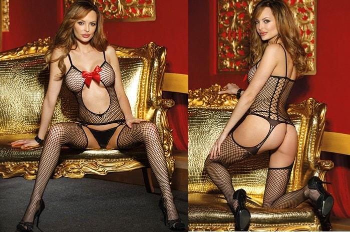 Keyhole Fishnet Body Stocking