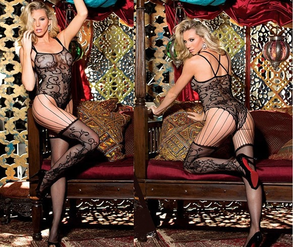 Ravishing Floral Body Stocking