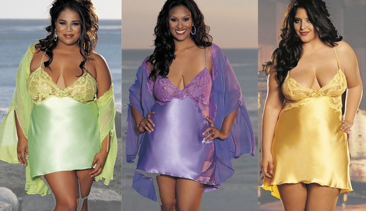 Sultry Satin Nightie Plus Size