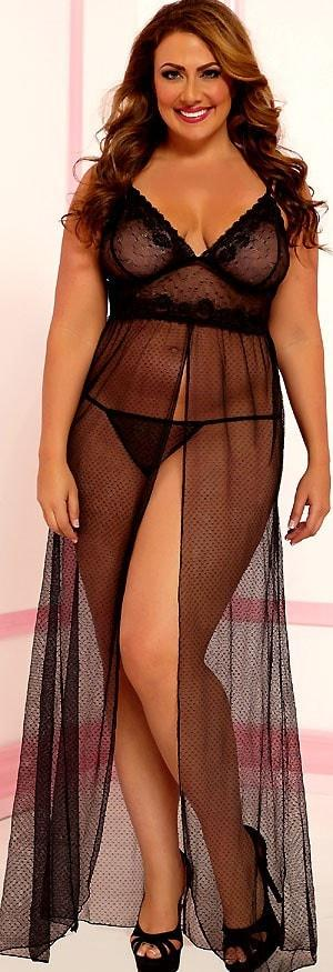 Exquisite Pleasures Nightgown Plus Size