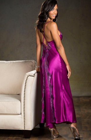 Mulberry Wine Slinky Gown