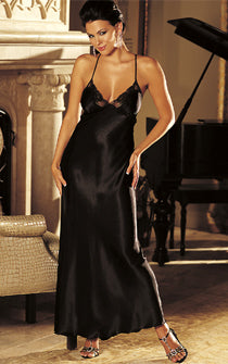 My Midnight Valentine Slinky Gown