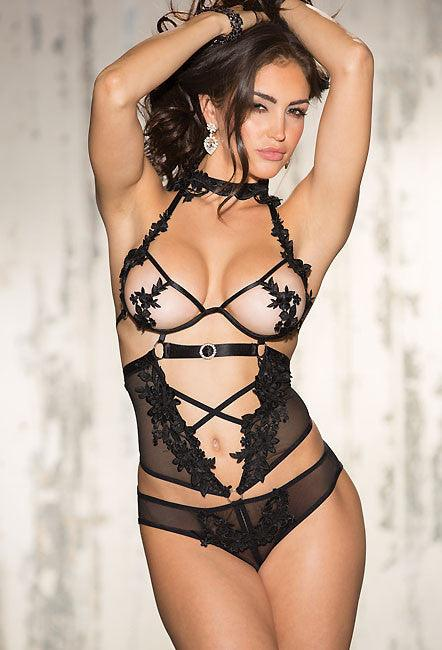Exotic Pleasures Open Front Teddy