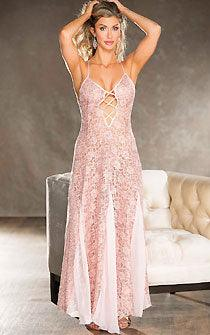 Movie Star Pink Sequin Gown