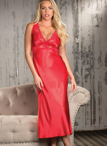 Red Satin Valentine Gown