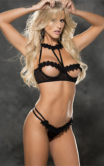 Too Hot to Handle Open Panty & Bra Set