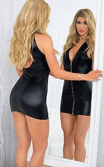Biker Babe's Liquid Black Dress