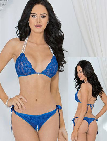 Passion Pearls open Crotch 2pc Set