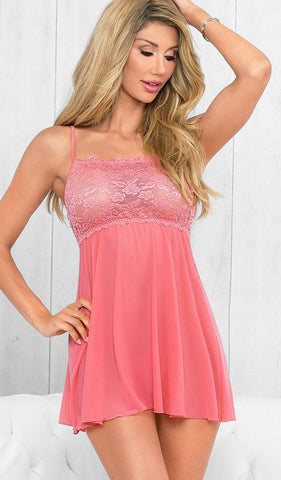 Pretty in Coral Pink Lace