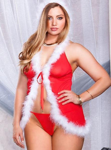 Santa's Little Playmate Robe Plus Size