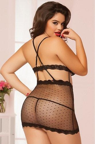 Netted Smooches Chemise
