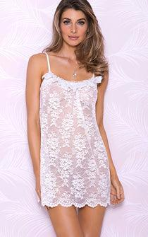 Summer Gardenia Lace Penoir Set