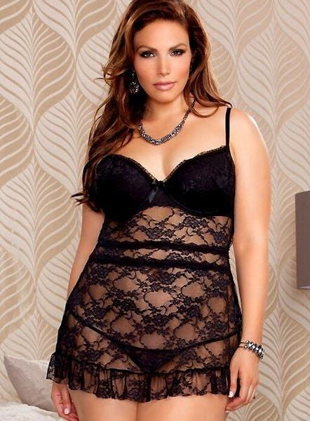 Temptress of the Night Babydoll Plus Size
