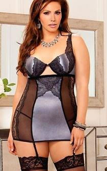 Silver Bells Chemise Plus Size
